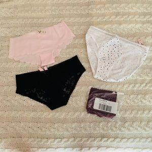 VS and VS Pink panty bundle Small